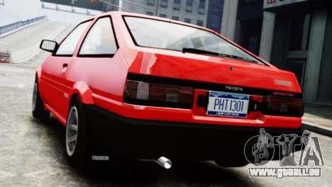 Toyota Sprinter Trueno AE86 SR pour GTA 4 est une gauche
