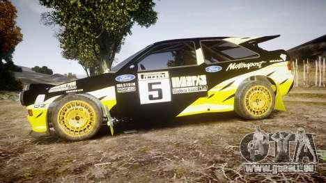 Ford Escort RS Cosworth 2.0 Vespas Team pour GTA 4 est une gauche