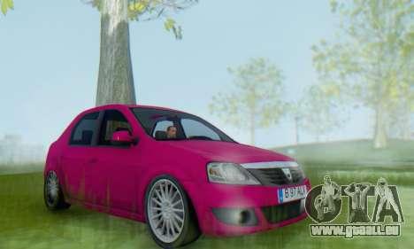 Dacia Logan 2013 pour GTA San Andreas vue de droite