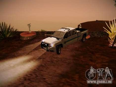 Chevrolet Silverado 2500HD Public Works Truck pour GTA San Andreas vue arrière