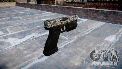 Pistolet Glock 20 diamant pour GTA 4 secondes d'écran