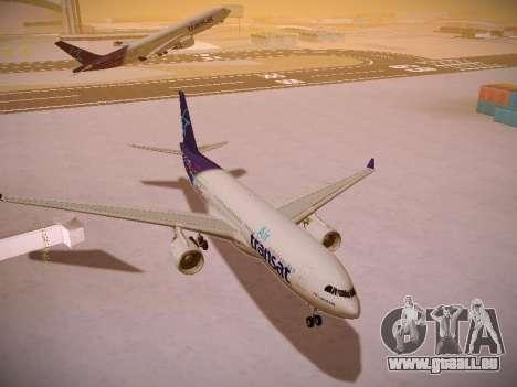 Airbus A330-200 Air Transat pour GTA San Andreas vue arrière