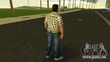 Kockas polo - citrom sarga T-Shirt für GTA Vice City dritte Screenshot