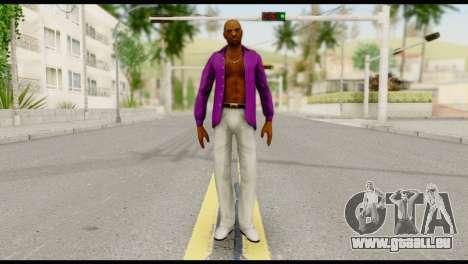 Purple Shirt Vic pour GTA San Andreas