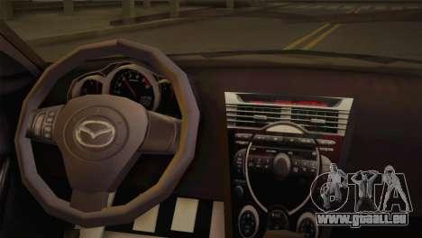 Mazda RX-8 Drift für GTA San Andreas zurück linke Ansicht