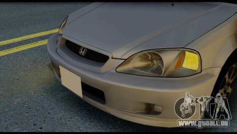 Honda Civic Si 1999 pour GTA San Andreas vue arrière