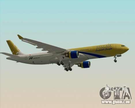 Airbus A330-300 Gulf Air pour GTA San Andreas vue arrière