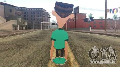 Sheen from Jimmy Neutron für GTA San Andreas zweiten Screenshot