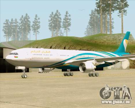 Airbus A330-300 Oman Air für GTA San Andreas zurück linke Ansicht