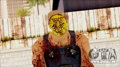 Manhunt Ped 15 pour GTA San Andreas troisième écran