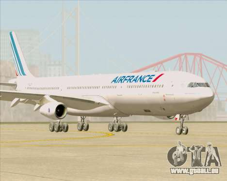 Airbus A340-313 Air France (New Livery) pour GTA San Andreas laissé vue