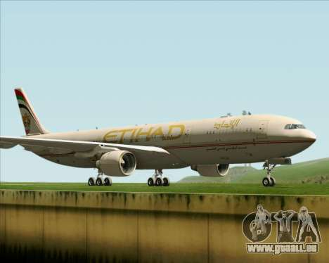 Airbus A330-300 Etihad Airways für GTA San Andreas linke Ansicht