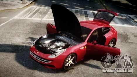 Ferrari FF 2011 v1.5 pour GTA 4 Vue arrière de la gauche