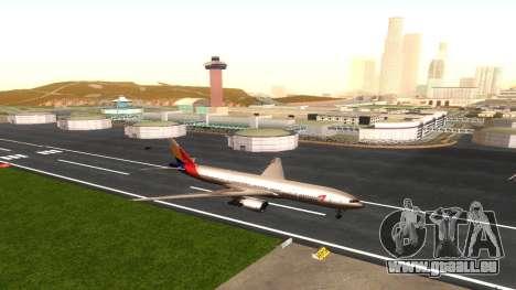 Boeing 777-280ER Asiana Airlines pour GTA San Andreas vue intérieure