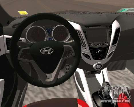 Hyundai Veloster 2013 für GTA San Andreas Rückansicht