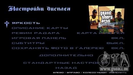 HD écran de chargement et de menus pour GTA San Andreas onzième écran