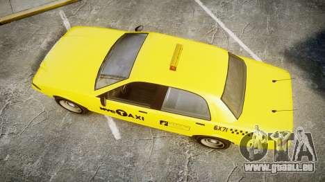 GTA V Vapid Taxi NYC für GTA 4 rechte Ansicht