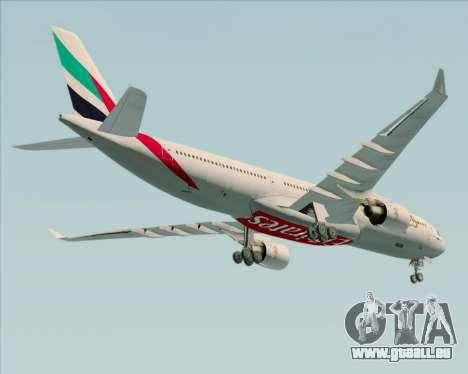 Airbus A330-300 Emirates pour GTA San Andreas vue de dessus