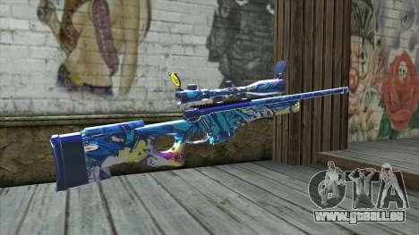 Graffiti Sniper Rifle v2 pour GTA San Andreas deuxième écran