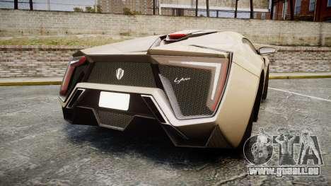 Lykan HyperSport pour GTA 4 Vue arrière de la gauche