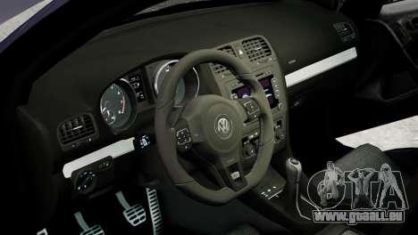 Volkswagen Golf R 2010 Polo WRC Style PJ2 pour GTA 4 est une vue de l'intérieur