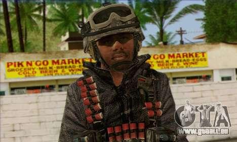 Task Force 141 (CoD: MW 2) Skin 4 pour GTA San Andreas troisième écran