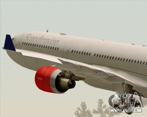 Airbus A330-300 Scandinavian Airlines System. pour GTA San Andreas vue de dessous