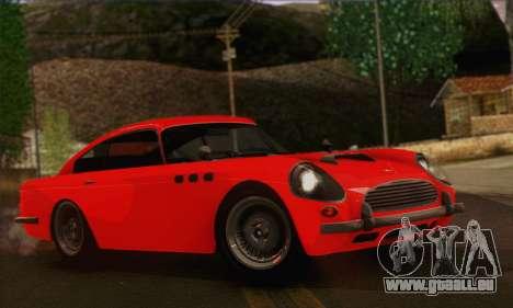 DewBauchee JB-700 1.0 (IVF) pour GTA San Andreas sur la vue arrière gauche