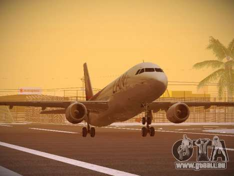 Airbus A320-214 LAN Airlines 80 Years für GTA San Andreas linke Ansicht
