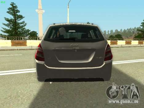 Lada Kalina 2 Wagon pour GTA San Andreas vue intérieure