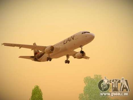 Airbus A320-214 LAN Airlines für GTA San Andreas obere Ansicht