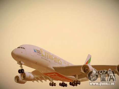 Airbus A380-800 Emirates Rugby World Cup pour GTA San Andreas roue