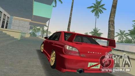 Subaru Impreza WRX 2002 Type 6 für GTA Vice City zurück linke Ansicht