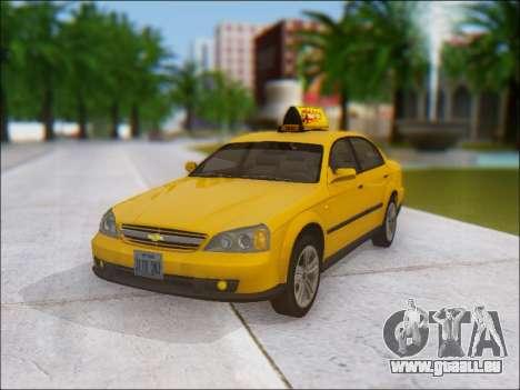 Chevrolet Evanda Taxi für GTA San Andreas