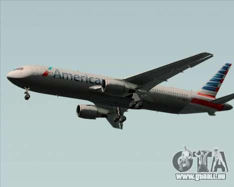 Boeing 767-323ER American Airlines pour GTA San Andreas sur la vue arrière gauche
