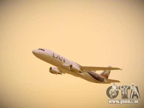 Airbus A320-214 LAN Airlines für GTA San Andreas Seitenansicht
