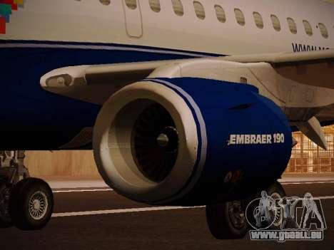 Embraer E190 Azul Brazilian Airlines pour GTA San Andreas moteur
