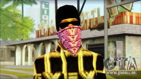 East Side Ballas Skin 3 pour GTA San Andreas troisième écran