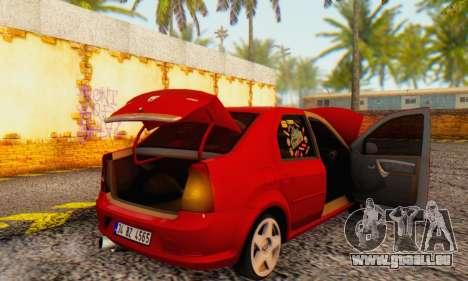 Dacia Logan Delta Garage für GTA San Andreas Seitenansicht