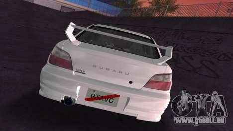Subaru Impreza WRX 2002 Type 2 pour une vue GTA Vice City d'en haut