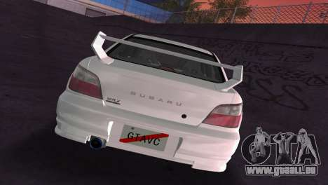 Subaru Impreza WRX 2002 Type 2 für GTA Vice City obere Ansicht