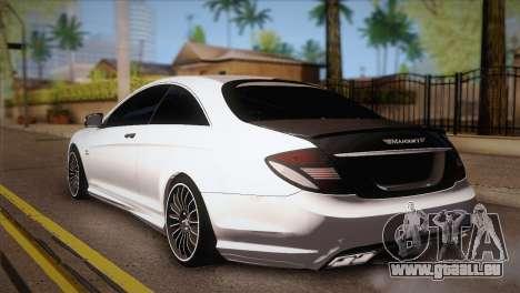 Mercedes-Benz CL63 AMG pour GTA San Andreas laissé vue