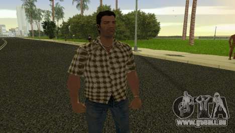 Kockas polo - citrom sarga T-Shirt pour GTA Vice City