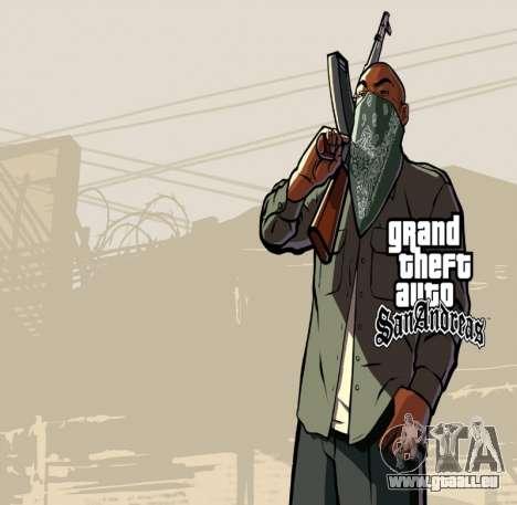 HD écran de chargement et de menus pour GTA San Andreas cinquième écran