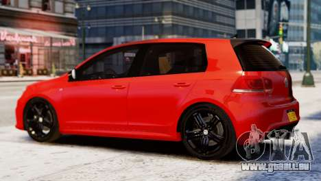 Volkswagen Golf R 2010 Racing Stripes Paintjob für GTA 4 linke Ansicht