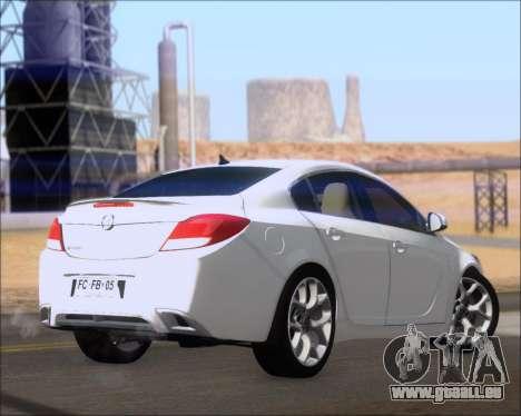 Opel Insignia OPC für GTA San Andreas rechten Ansicht