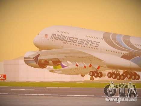 Airbus A380-800 Malaysia Airlines pour GTA San Andreas vue de côté