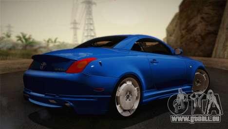 Toyota Soarer 430SC 2002 (IVF) pour GTA San Andreas laissé vue