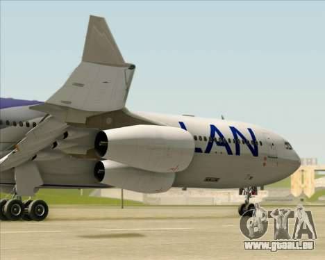 Airbus A340-313 LAN Airlines für GTA San Andreas obere Ansicht