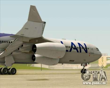 Airbus A340-313 LAN Airlines pour GTA San Andreas vue de dessus